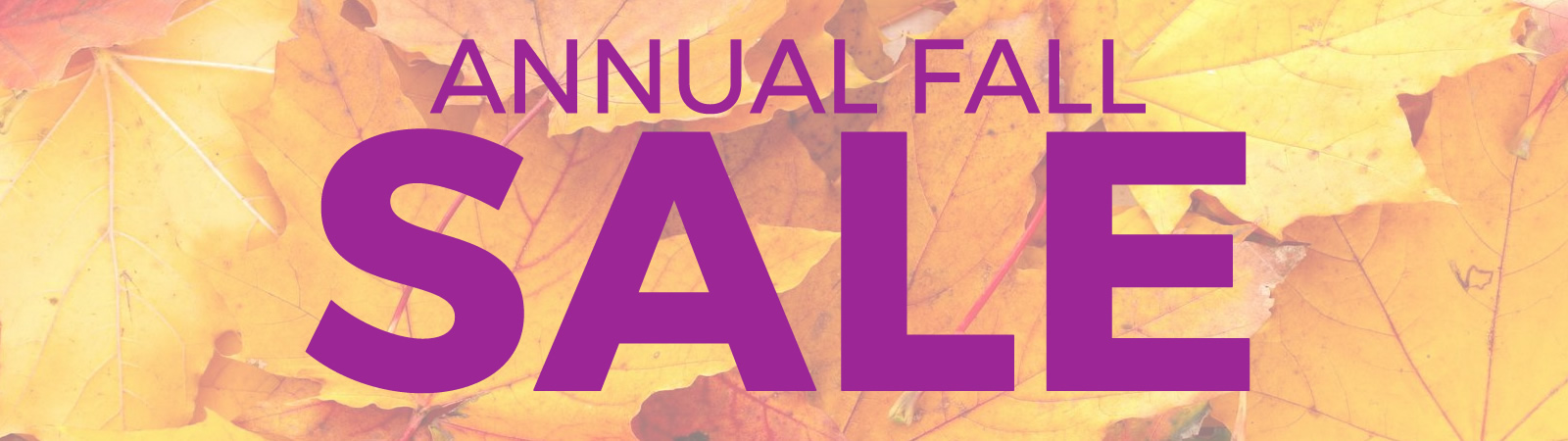 Annual Fall Sale!